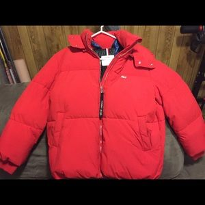 Tommy Hilfiger red oversized puffer jacket